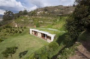 modern kitchen interiors house built into a hill