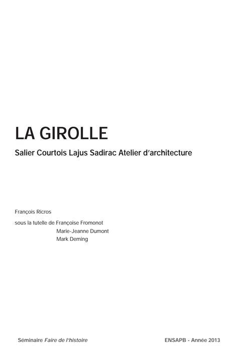 cuisiner la girolle mémoire quot la maison girolle quot by francois ricros issuu