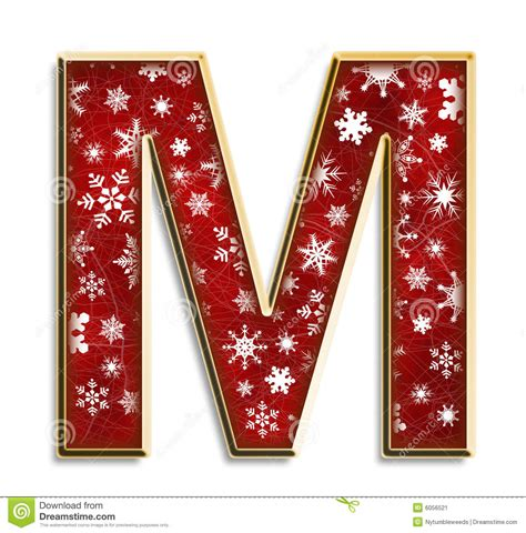 isolated christmas letter   red stock image image