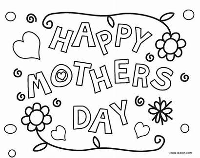 Mothers Coloring Mother Pages Printable Happy Flowers