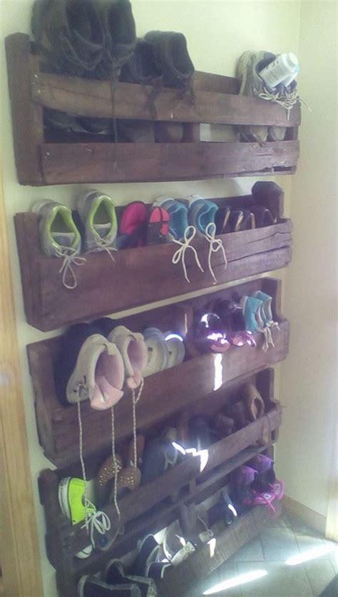 pallet shoe storage practical  good pallets