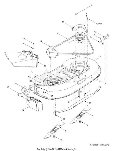 Deck Part Diagram by Mtd 13a3665g000 2003 Parts Diagram For Deck Assembly Quot G Quot