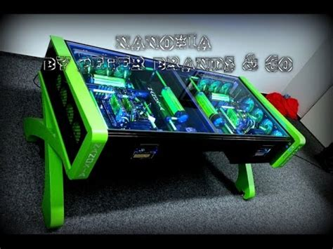 ultimate custom watercooled gaming desk pc mod crazy