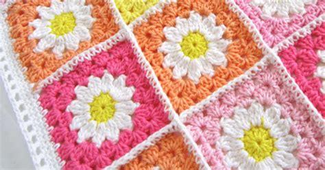 square flower square bunga crochet square blanket free pattern