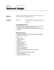 resume format sle pdf resume format front office assistant