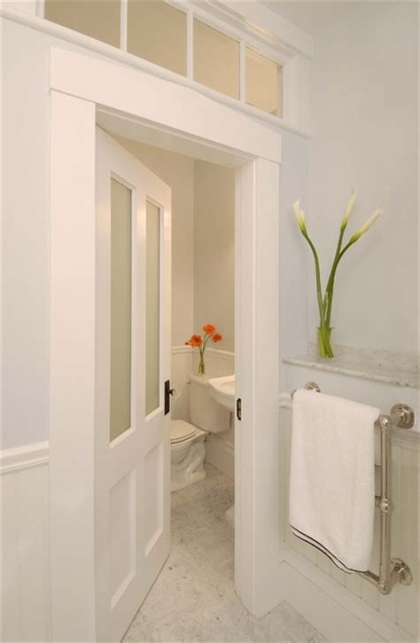 greek revival bath  transom windows traditional