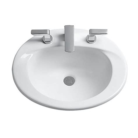 hole in sink basin toto ultimate 19 in drop in sink basin with single faucet
