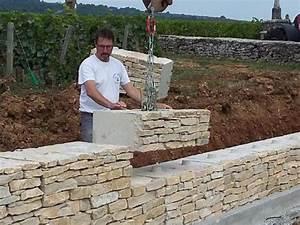 Construire Un Mur En Pierre : mur en pierre ecomuret ~ Melissatoandfro.com Idées de Décoration