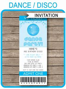Cooking Party Invitations Blue Dance Theme Party Ticket Invitations For Kids