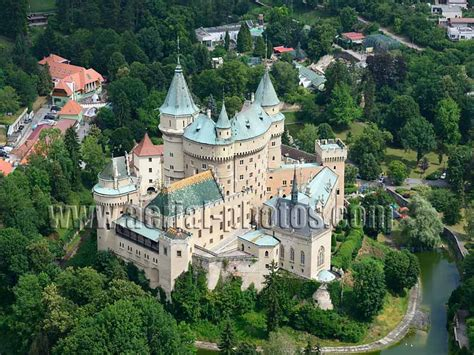AERIAL PHOTO, Bojnice Castle, Slovakia.