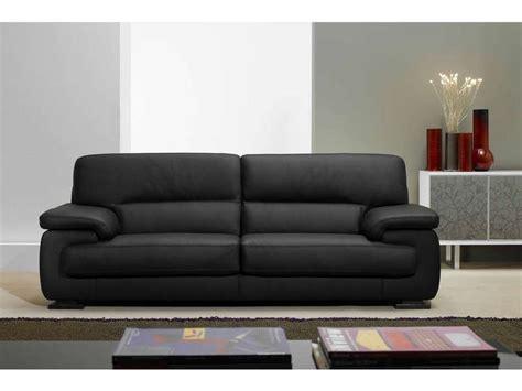 canapé cuir discount canapé fixe 3 places balsamo coloris noir prix promo