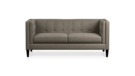 Tufted Apartment Sofa by Aidan Grey Modern Tufted Apartment Sofa Crate And Barrel