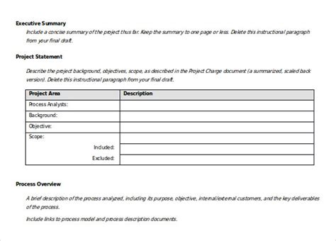 Business Report Template Word 2010 Current State Process