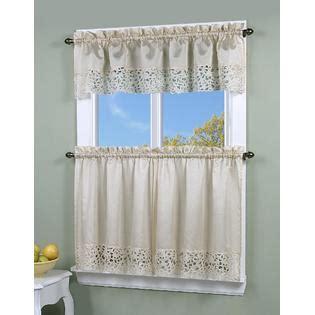kmart kitchen curtains simply window brighton cutwork kitchen curtain valance