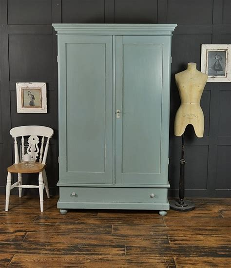 Blue Wardrobes For Sale by Farrow Oval Room Blue Antique Shabby Chic Wardrobe
