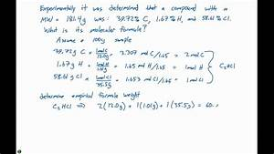 3 5 Molecular Formula Example Problem