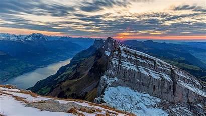 Snow Sun Mountains Rocks 4k Uhd Background