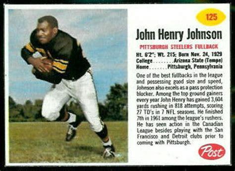 john henry johnson  post cereal  vintage