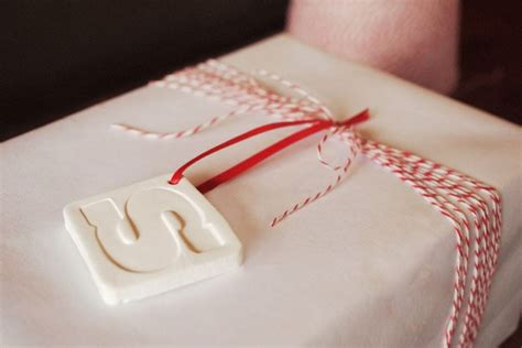 diy clay monogram ornaments gift tags jamie bartlett design