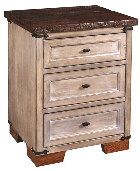 Farmhouse Nightstand by Farmhouse Heritage Three Drawer Nightstand Amish Originals