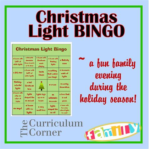 christmas light bingo merry christmas pinterest