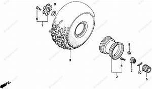 Honda Atv 1999 Oem Parts Diagram For Rear Wheel