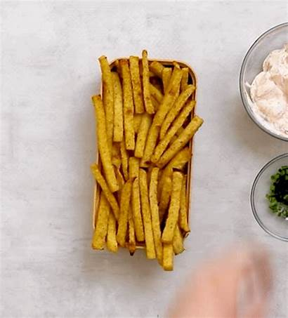 Fries Spicy Chives Jicama Sauce