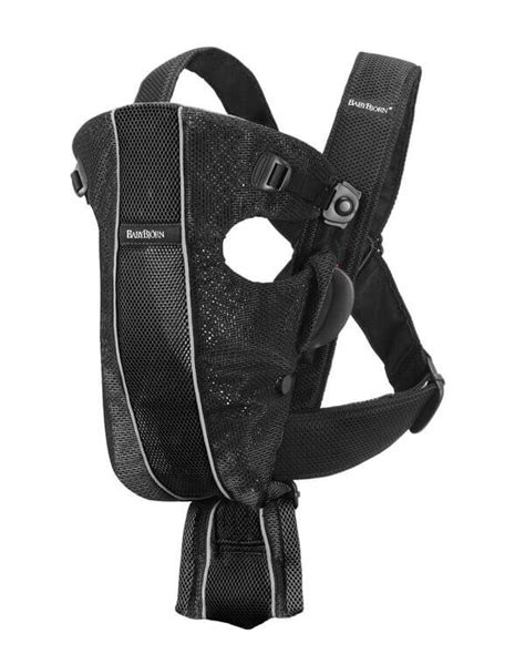 babybjorn baby carrier original black mesh bubs n grubs