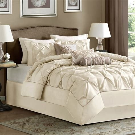 madison park laurel  piece comforter set ivory