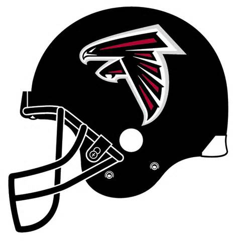 Atlanta Falcons Team Logo Helmet