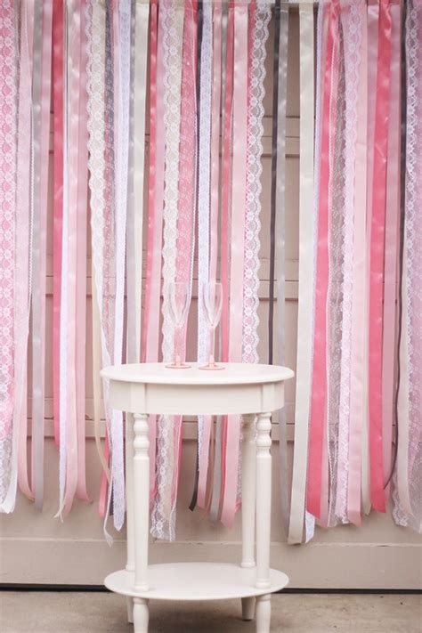 diy ribbon lace backdrop tutorial photo booth