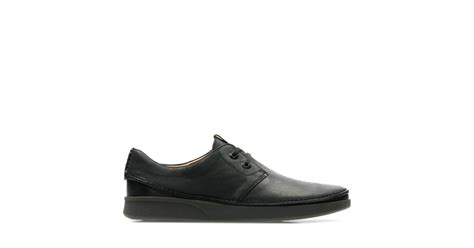 oakland lace black leather clarks shoes official site