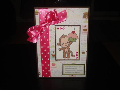 """5th birthday card for my daughter """"postcard style"""" 2012"""