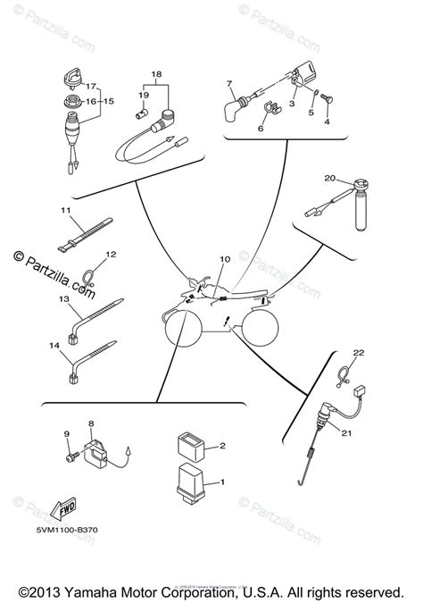 Yamaha Atv Oem Parts Diagram For Electrical