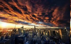 nature, , landscape, , clouds, , sunset, , new, york, city