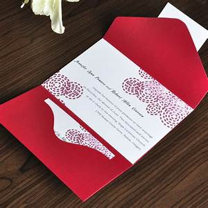 classic red circle pocket wedding invitation aups invi With average wedding invitation cost australia