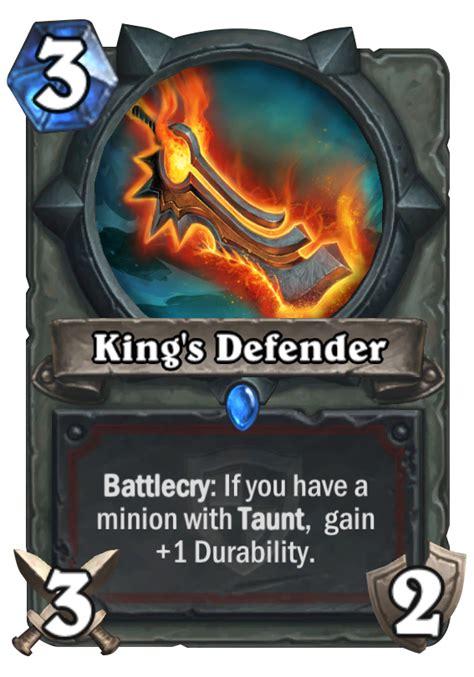 hearthstone taunt deck 2015 king s defender hearthstone card