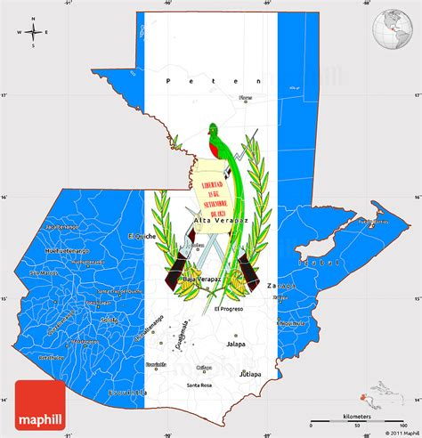 guatemala map flag