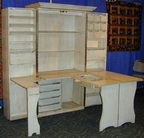 Fold Out Organizer Craft Deskcraft Armoire With Table 28