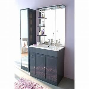 emejing meuble salle de bain castorama 90 cm ideas With salle de bain design avec lavabo 40 cm largeur