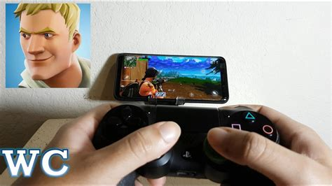 fortnite mobile  ps controller android gameplay youtube