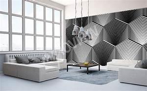 Moderne Wohnzimmer Schwarz Weiss : fototapeten schwarz wei gr e der wand ~ Markanthonyermac.com Haus und Dekorationen