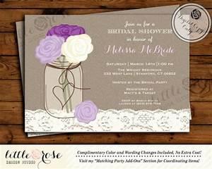 mason jar bridal shower invitation bridal shower invite With mason jar wedding shower invitations
