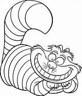 Disney Coloring Pages Cat Cheshire sketch template
