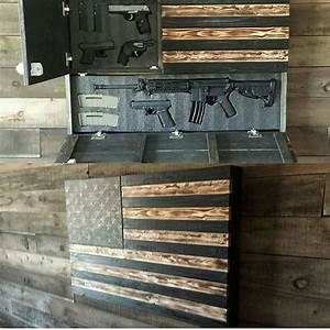 Represent America with a nice gun cabinet and a work of