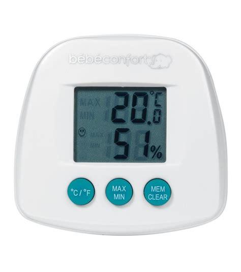 taux d humidité dans la chambre de bébé thermomètre hygromètre bebe confort avis