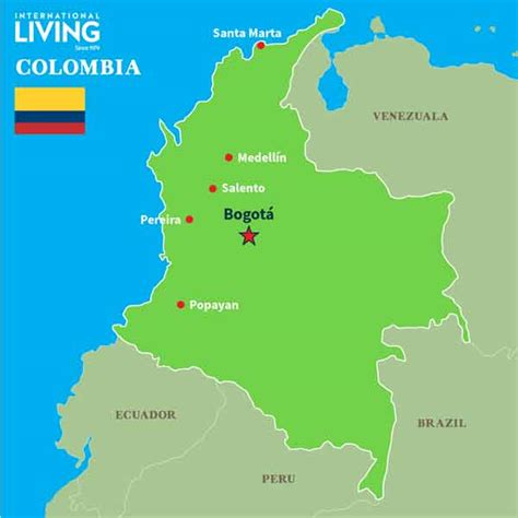 colombia  map detailing  location  colombia