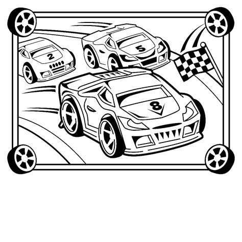 45 Race Car Coloring Pages And Crafts Cakes For Kids