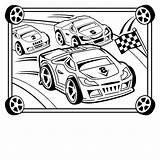 Race Coloring Printable Cars Cakes Crafts Craft sketch template