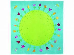 haba tapis planete fleurie With tapis chambre bébé avec fleurs achat internet
